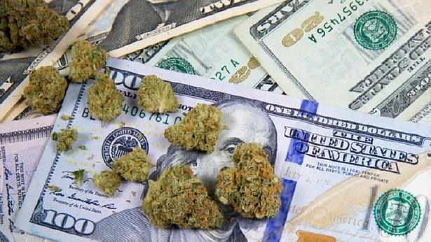 Sea stones on top of money
